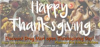 thanksgiving hours discount mart