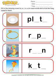 fill missing vowel and circle the long vowel worksheet turtle diary