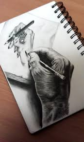 3d drawing hand drawing a hand by omimic on deviantart