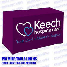 6ft Imprinted Table Cover Custom Printed Trade Show 6 U0027 Fitted Table Cover Premier Table Linens