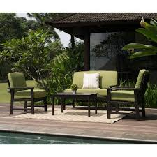 Walmart Patio Conversation Sets Delahey 4 Piece Patio Conversation Set Dark Brown Seats 4