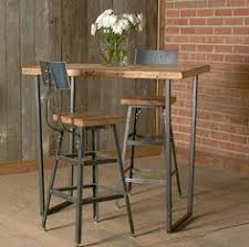 high table with stools bar height harvest barn wood stool with steel back 1 25 counter