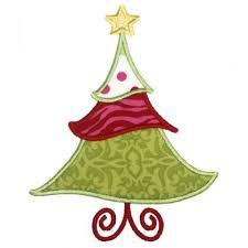christmas applique applique only jolly christmas tree applique