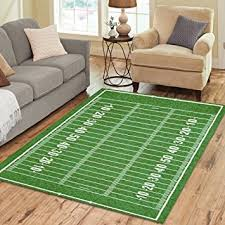 Football Field Area Rug Interestprint Green American Football Field Area Rug 7