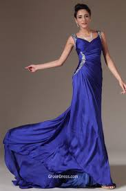 sparkly beaded wide strap asymmetrical pleated navy blue long prom