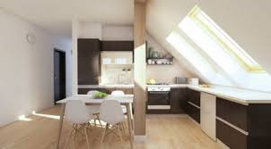 attic kitchen ideas loft apartment interior design modern design attic apartments