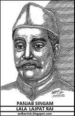 lala lajpat rai freedom fighters of india portrait art by