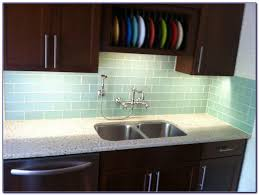 gray glass subway tile kitchen backsplash tiles home design