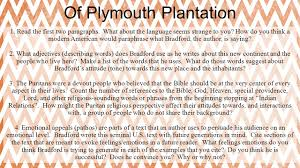 plymouth plantation book of plymouth plantation ppt