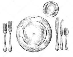 table setting u2014 stock vector kamenuka 14169277