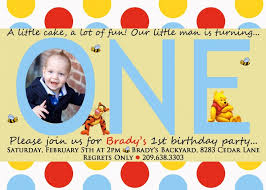 template exquisite first birthday party invitations boy with