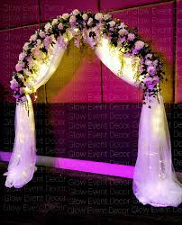 wedding backdrop arch ceremony arches accessories glow event decor