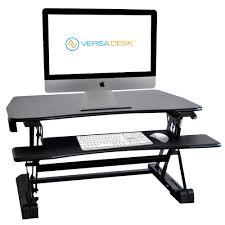 Desk Risers For Standing Desk Basic Manual Standing Desk Riser Versadesk