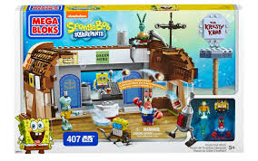 mega blocks toy spongebob square pants krusty krab attack 407