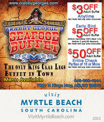 Seafood Buffets In North Myrtle Beach by Crabby George U0027s Seafood Buffet
