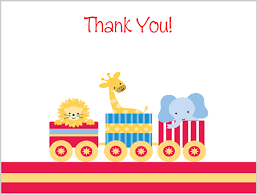 kids thank you cards day at the circus thank you note cards