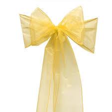organza chair sashes free shipping 125pcs new gold organza chair sashes organza bow for
