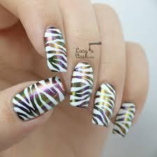 lucy u0027s stash jewel u0026 white zebra print nail art feat dance
