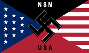 American Flag In Text File Flag Of National Socialist Movement United States Svg