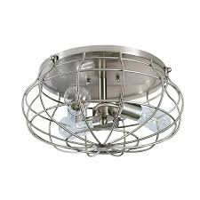 Flushmount Lighting Shop Allen Roth Yordan 15 In W Brushed Nickel Flush Mount Light