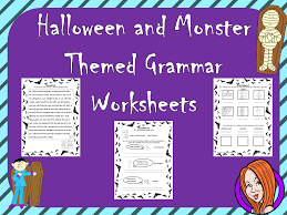 halloween grammar worksheets by thegingerteacher teaching