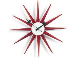 Herman Miller Clock George Nelson Sunburst Clock Red Hivemodern Com
