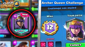 clash of clans archer queen new u201carcher queen challenge u201d leaked in clash royale new cards