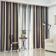 Striped Living Room Curtains by Ombre Pink Leaf Horizontal Striped Print Polyester Pastoral Curtains