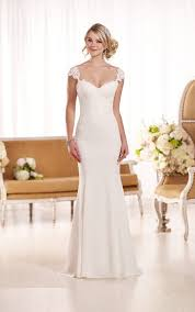 cap sleeve wedding dress lace cap sleeve wedding dress essense of australia