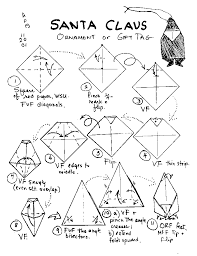 how to make a santa origami origami santa claus templates