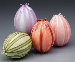 styrofoam easter eggs easter eggstravaganza diy decoupage tissue ribbon eggs crafts