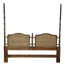 vintage used henredon beds chairish henredon asian campaign style faux bamboo king size high poster headboard
