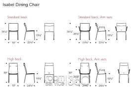 Outstanding Standard Dining Room Chair Dimensions  About Remodel - Dining room chair height