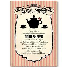 bridal shower tea party invitations bridal shower invitations at wedding invites part 2