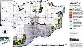 Quad Cities Map Zoning Scott County Iowa