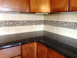 Kitchen Border Ideas Glass Stone Mosaic Border Compliments Granite U0026 Cabinetry Our
