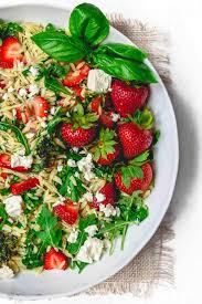 Best Pasta Salad by Mediterranean Strawberry Orzo Pasta Salad