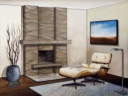 interior fireplace contemporary stone fireplace mantels