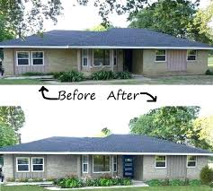 ranch remodel exterior ranch remodel before and after small ranch before two story remodel