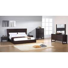 Wenge Bedroom Furniture Contemporary European Style Wenge Bedroom Set In Brown Richport