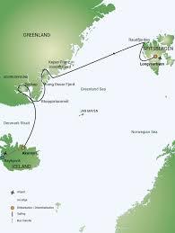 Greenland Map Greenland And Spitsbergen Geoworld Travel