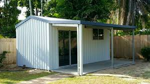 Awning Shed Garden Shed With Attached Awning Nq Sheds And Patios