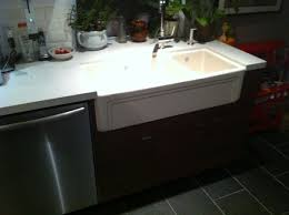 kitchen with apron sink farmhouse sink into ikea kitchen cupboards ikea hackers