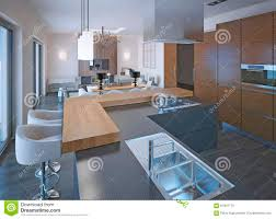 neoclassical kitchen design stock illustration image 61941175
