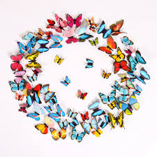 bedroom cute removable 3d butterflies wall craft decorations for large size of colourful 3d butterflies in various size make circle wall stickers wall craft