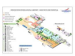 Airport Terminal Floor Plan by Phnom Penh Airport Map