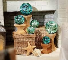set of 3 lit indoor outdoor mercury glass spheres w timer by
