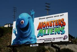 monsters vs aliens halloween special daily billboard april 2010 advertising for movies tv fashion