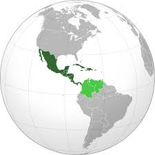 Map Of South And Central America Middle America Americas Wikipedia