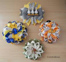 loopy bow finding dory nemo inspired loopy hair bows colorfulbows